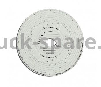 125-24EC-4K Диск тахографа бумажный Kombi 1день125km/h VDO 125-24EC-4K (упаковка 100шт) TUV Certificate BERGKRAF