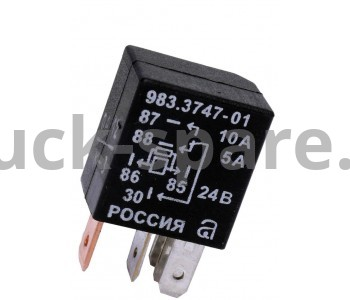 983.3747-01 Реле переключающее 5-контакт. б/кронштейна с диодной защитой 20/10А, 24В (АВАР)