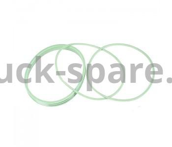 236Р-1004003-А Р/к уплотнительных колец гильзы ЯМЗ фтор-силикон (Зелёные)