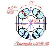 43206-2201011 Вал карданный заднего моста (L=1280 мм) УРАЛ-43206 (с торцевыми шлицами)