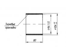 4320Я3-1109044 Муфта соединительная насадка (дв.ЯМЗ-236НЕ2)